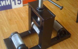 Как сделать станок для гибки арматуры своими руками