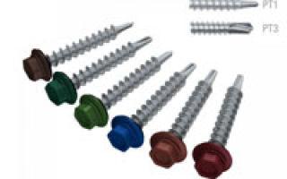 Саморезы для крепления профнастила: разновидности, размеры, количество на 1 м2