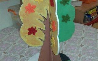 «Сезонное» дерево из фанеры, а также другие поделки