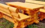 Скамейки из бревна, их виды и технология изготовления