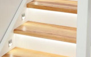 Подсветка лестницы: сочетание практичности и оригинальности