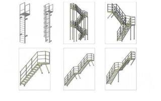 Нормативы и требования ГОСТ к металлическим лестницам различных типов