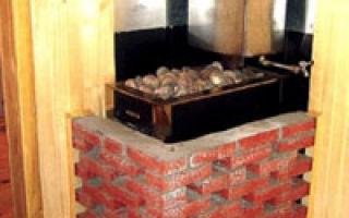 Как построить печь для бани из кирпича своими руками