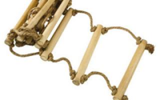 Виды веревочных лестниц: материалы, конструкции и способы изготовления