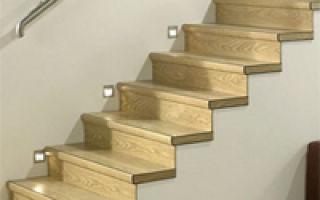 Особенности и технология отделки лестницы ламинатом