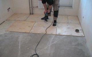 Как правильно провести укладку фанеры на бетонный пол