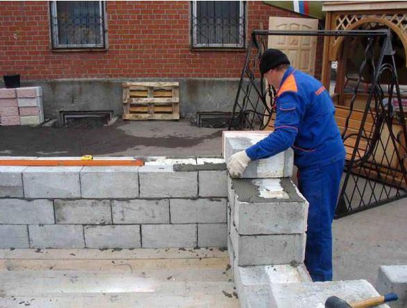 montaj sten iz penoblokov