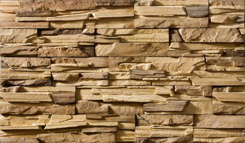 Фактурный кирпич может имитировать природный камень