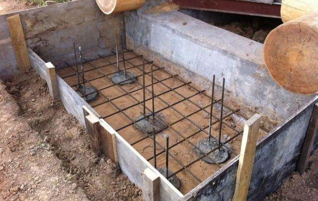 Фундамент под металлическое крыльцо