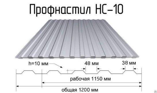 Профнастил НС-10