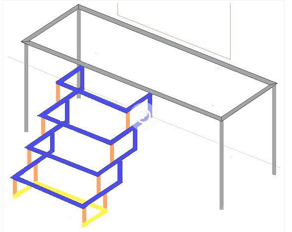 Схематическое изображение соединяющих элементов крыльца