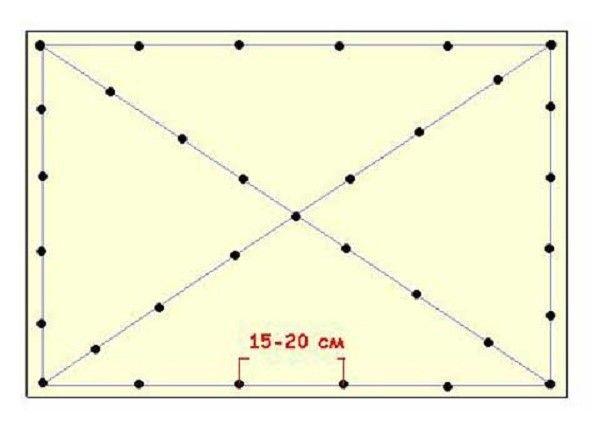 Схема крепежей