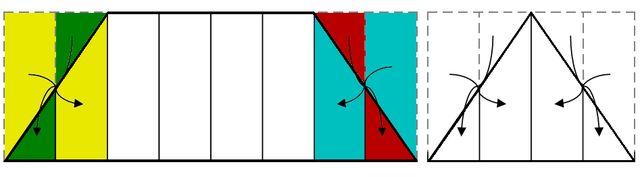Совмещение треугольных сторон