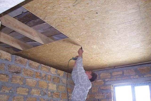 Черновой потолок из плит ОСП