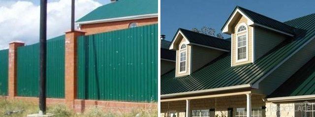 Цвет профнастила для крыши фото