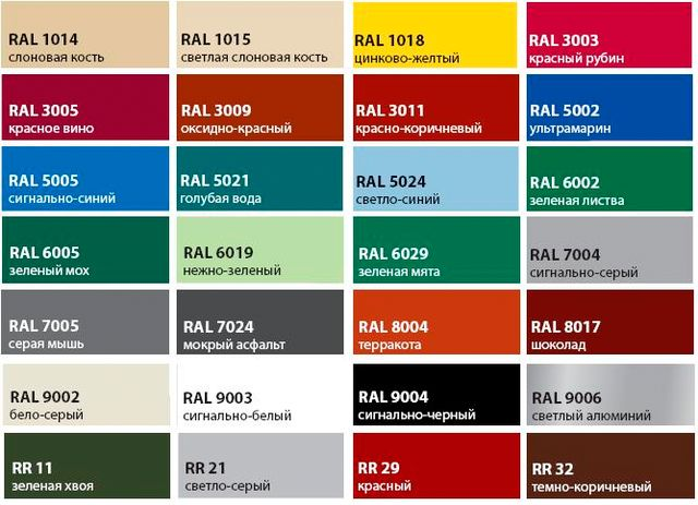 Цветовые гаммы пользующиеся популярностью.