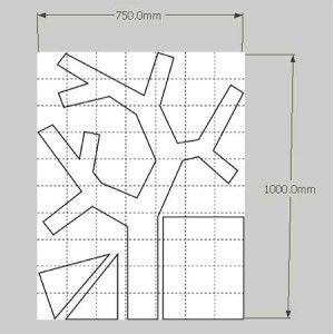 Вешалка-дерево на стену (чертеж)