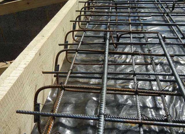Готовый каркас для монолитной плиты