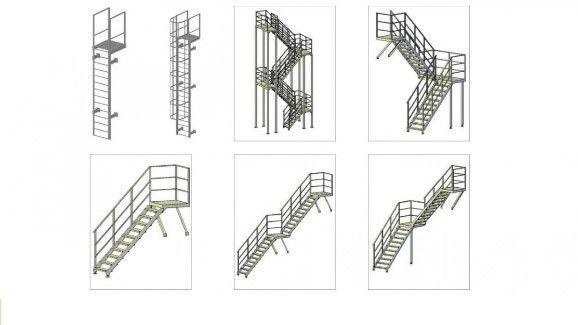Разновидности металлических лестниц