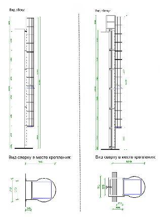 Схема конструкции с ограждающими дугами
